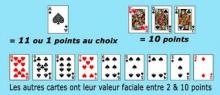 valeur cartes blackjack